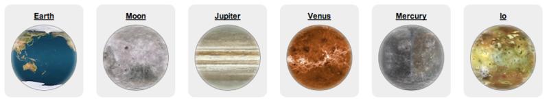 Псевдо 3D: Анимация вращения планет и других шароподобных объектов