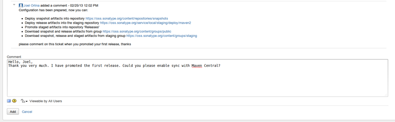Публикация артефакта в Maven Central через Sonatype OSS Repository Hosting Service