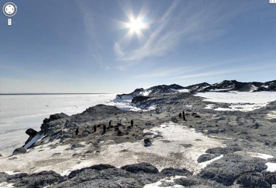 Путешествие в Антарктику на Street View