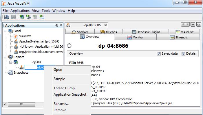 Работа с Java VisualVM при проведении нагрузочного тестирования