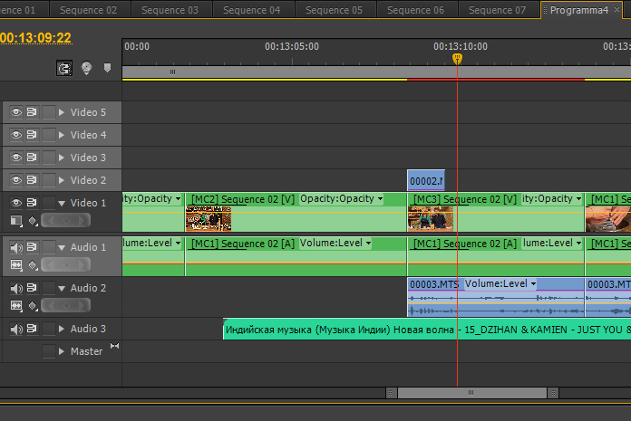 Работа со звуком в Adobe Premiere Pro CS 6