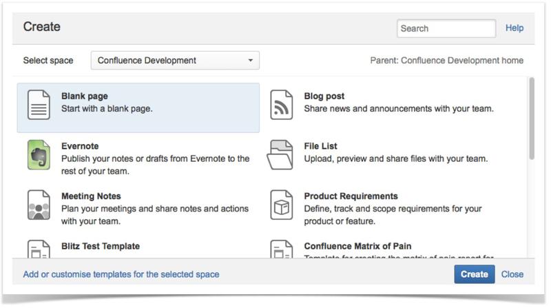Разработка Blueprints плагинов в Atlassian Confluence
