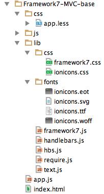 Разработка мобильных Javascript MVC приложений с Framework7, RequireJS и Handlebars