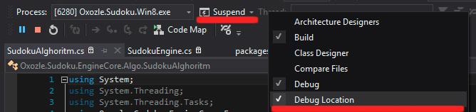 suspend toolbar