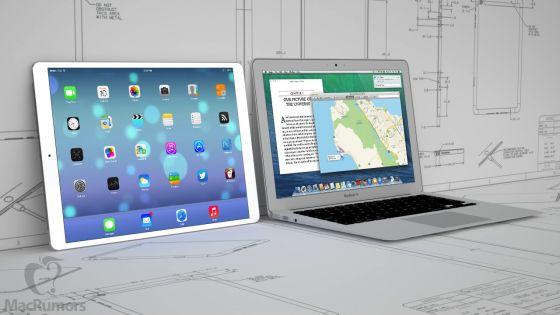 iPad с экраном диагональю 12,9 дюйма, вероятно, является заменой MacBook Air