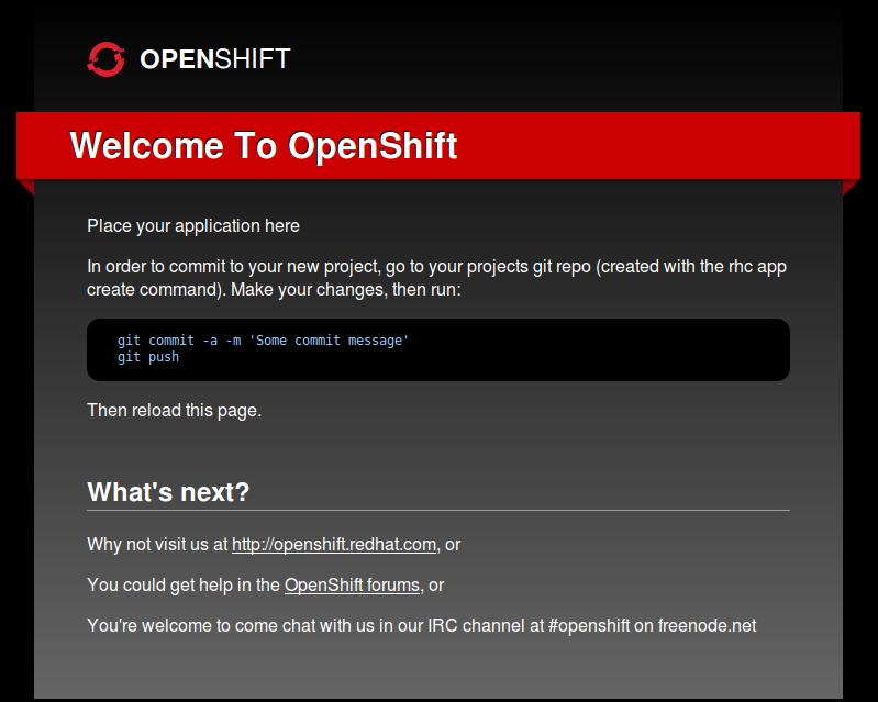 Развёртывание django приложения на OpenShift хостинге от Red Hat