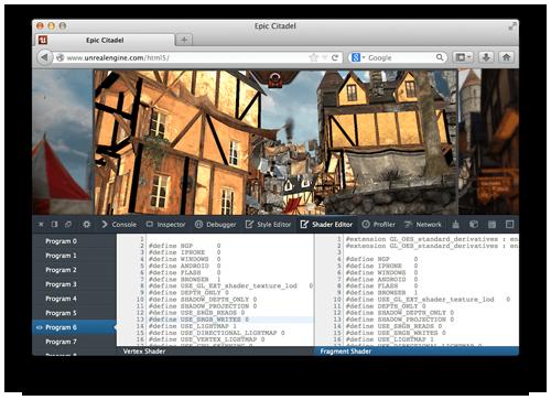 Редактирование шейдеров WebGL на лету с помощью Firefox Developer Tools
