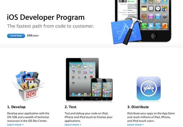 Регистрация iOS Developer в Украине