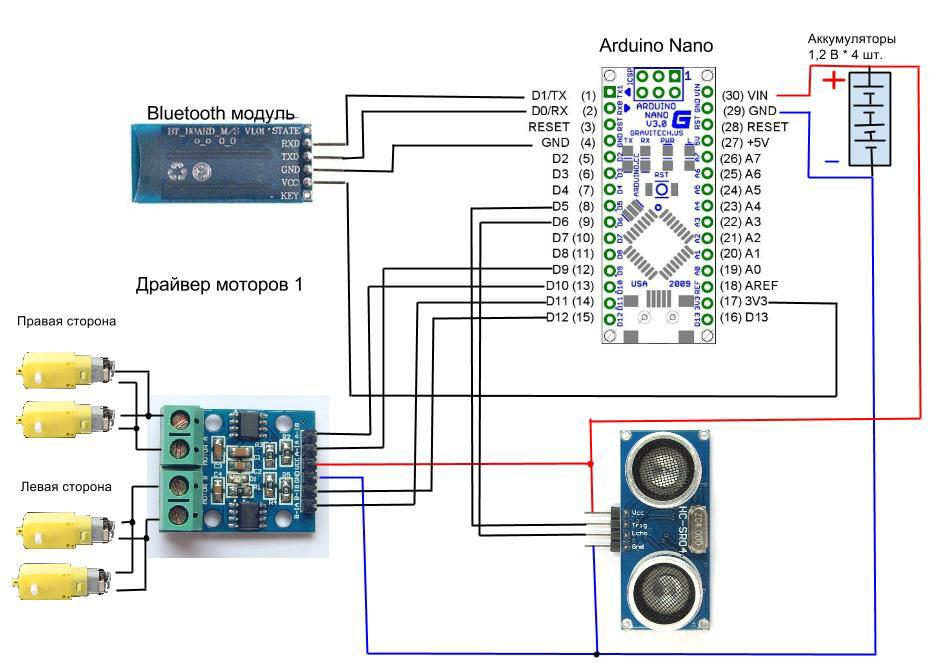 РОБОТ на базе: android, arduino, bluetooth. Рефлексный. Часть 2