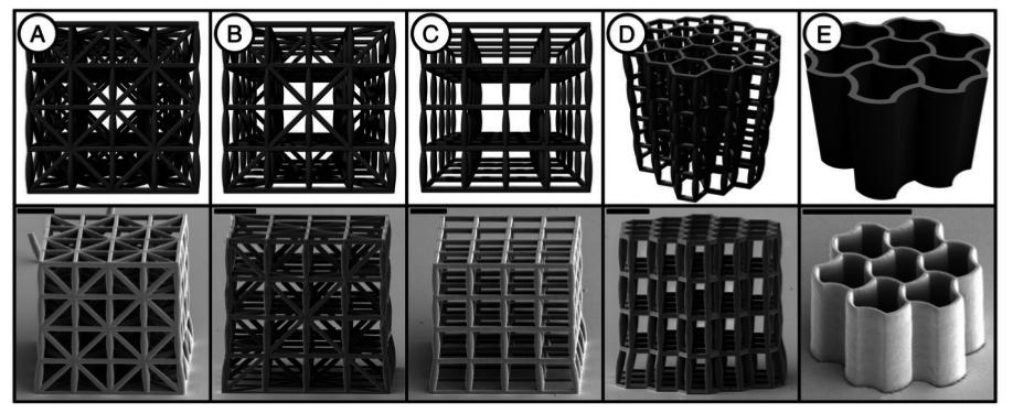 С помощью 3D принтера создан материал, который легче воды и обладает прочностью стали