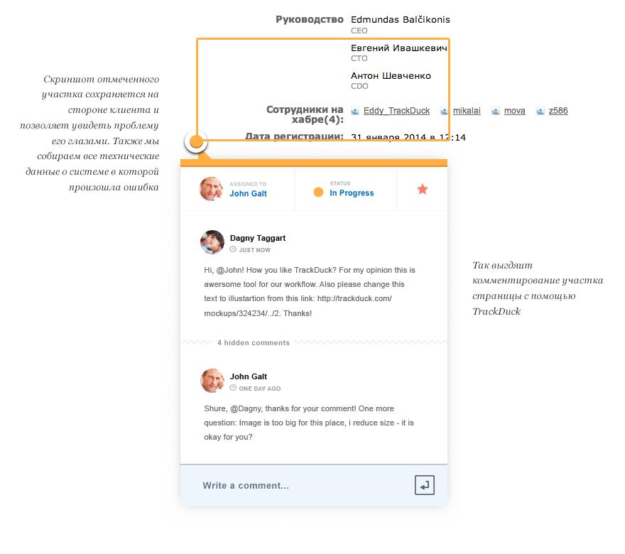TrackDuck - visual feedback for web