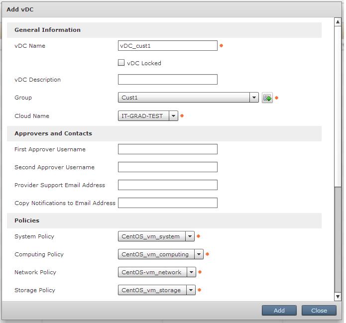 Настройка Virtual DataCenter (vDC)