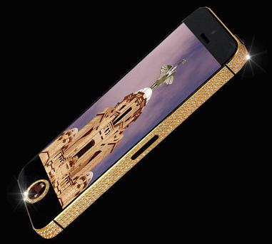 iPhone 5, над которым потрудился ювелир Стюарт Хьюгс