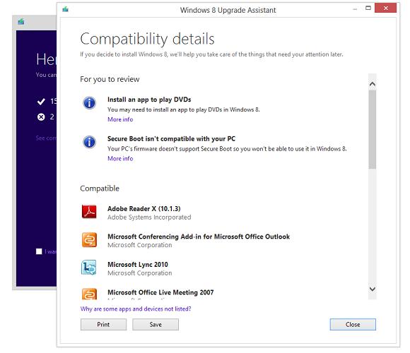 Сценарии обновления до Windows 8