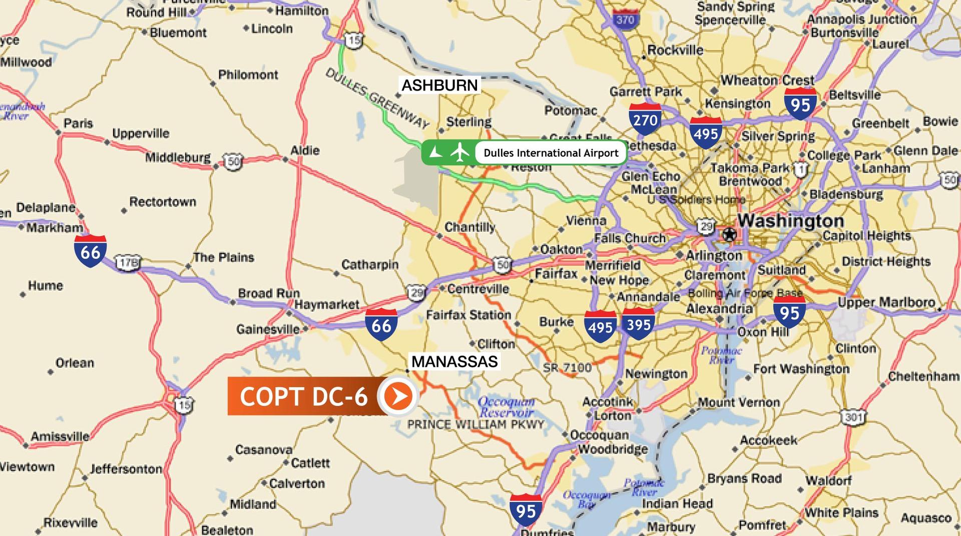 Серверы в США, Дата Центр COPT DC 6 EvoSwitch/LeaseWeb (Manassas)