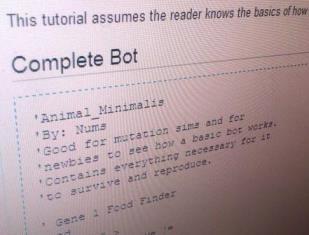 Симуляция жизни в системе Darwinbots. II. Симуляция и простейший бот