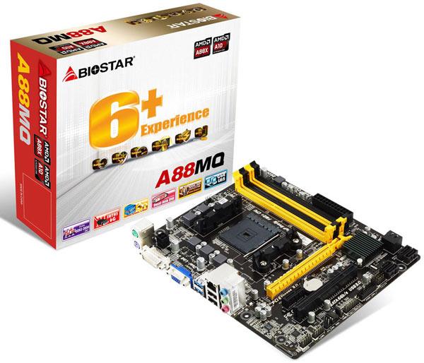 Данные о цене и сроке начала продаж Biostar A88MQ производитель не приводит
