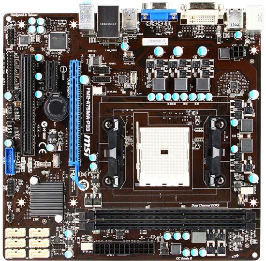 Системная плата MSI FM2-A75MA-P33 рассчитана на APU AMD в исполнении FM2