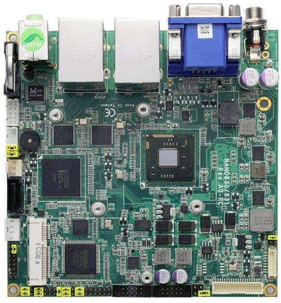 Системные платы Axiomtek NANO830 и NANO831 типоразмера nano-ITX построены на платформе Intel Cedar Trial