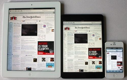 Apple iPad 5 будет на 17 мм уже, на 4 мм короче и 2 мм тоньше своего предшественника