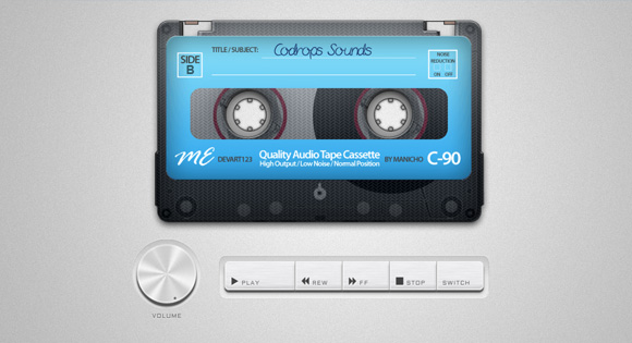 Создаем кассетный магнитофон при помощи HTML5 Audio