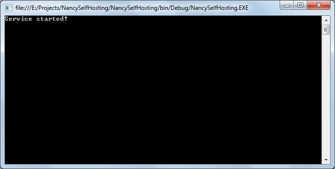 Создаем первое приложение на NancyFX. Часть шестая. Nancy.Selfhosting