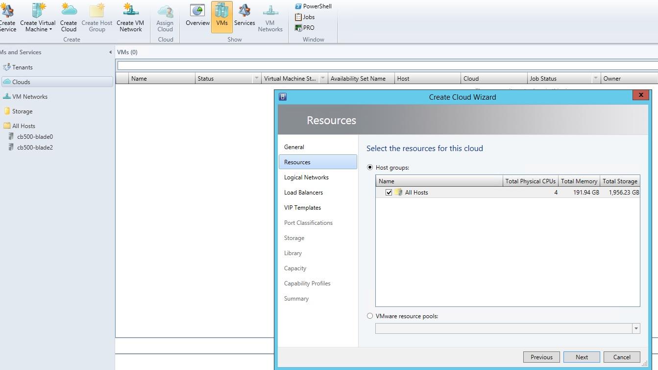 Создание частного облака с помощью System Center Virtual Machine Manager 2012 R2
