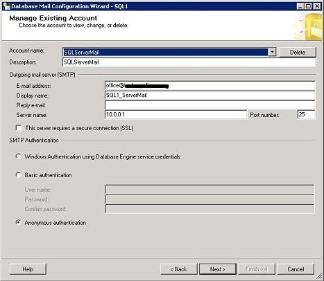 database mail in maintenance plan