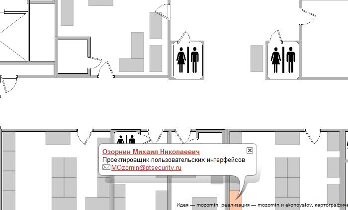 Создание интерактивной карты офиса