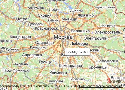 Создание пользовательского контрола карты с помощью API Яндекс.Карт 2.0