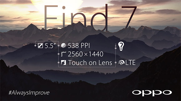 Основой смартфона Oppo Find 7 послужит однокристальная система Qualcomm Snapdragon 800
