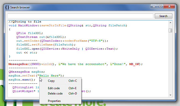 Сверхбыстрое копирование\вставка фрагментов кода