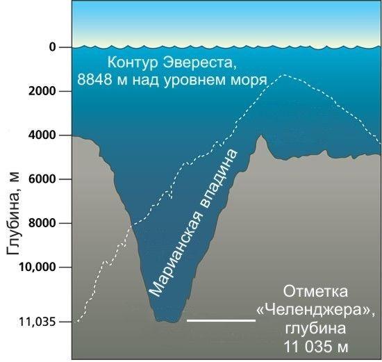Темные места Марианской впадины — на Яндекс.Картах