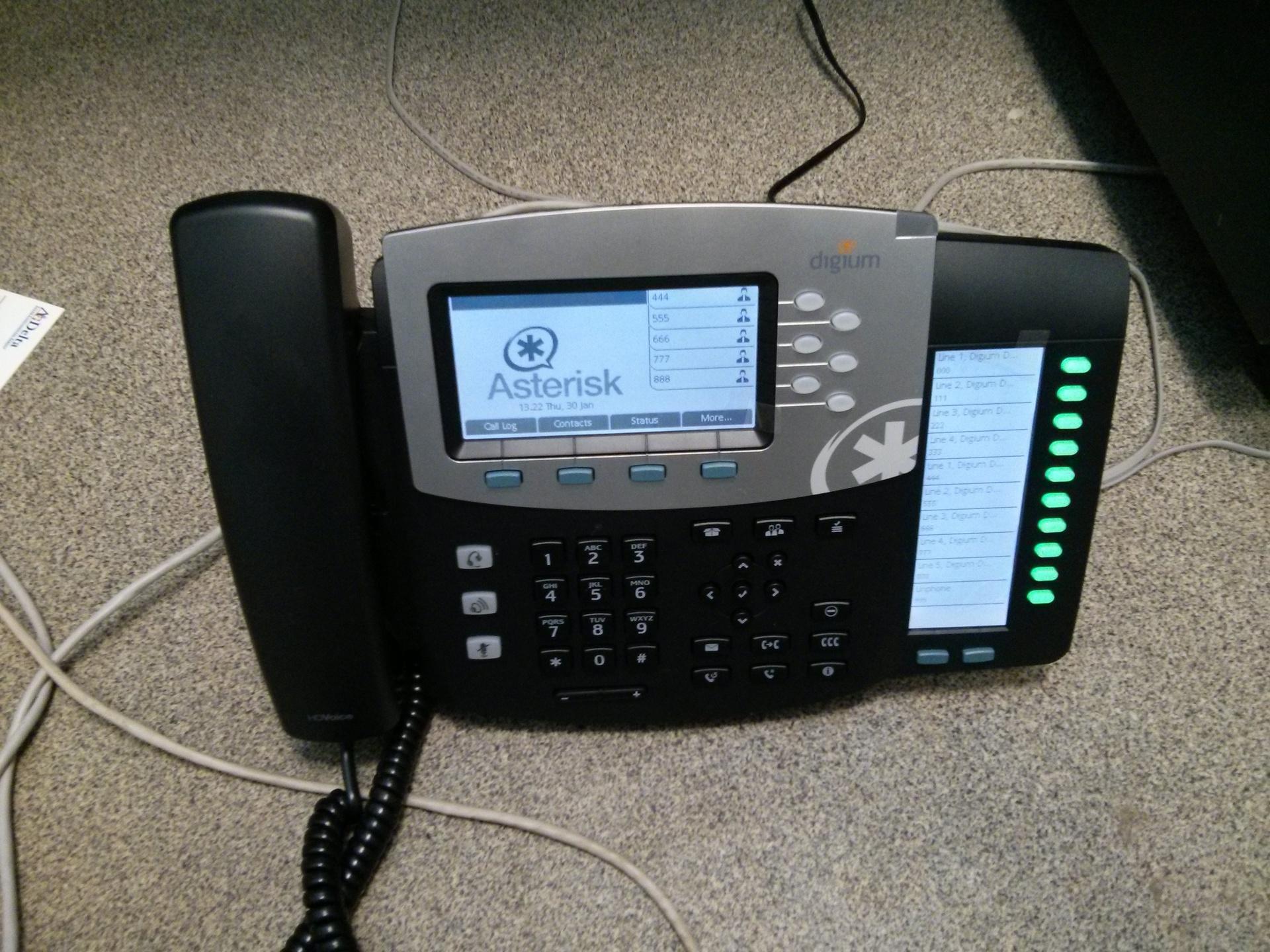 Тестирование телефонов Digium с Asterisk и настройка Smart BLF