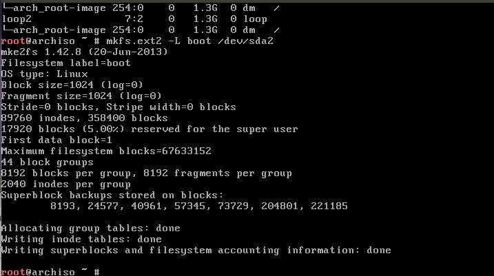 Типовая установка Arch Linux (Release: 2013.11.01)