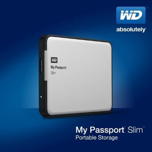 Портативные жесткие диски WD My Passport Slim выпускаются объемом 1 и 2 ТБ