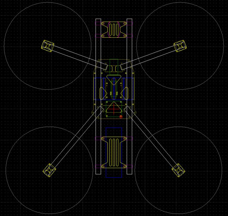 Тяжелый FPV квадрокоптер — разработка, сборка и первый полет