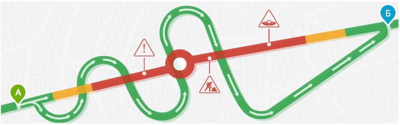 Учёт статистической информации о пробках при поиске проезда на автомобиле