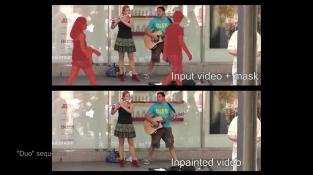 Удаление лишних людей из видеоролика