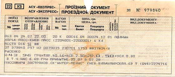Украинская железная дорога. Билеты online. Квест