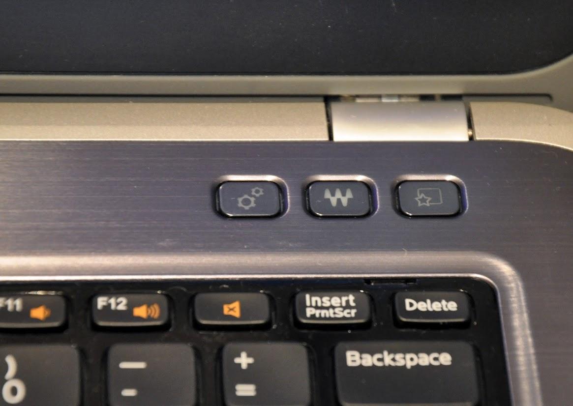 Dell Inspiron 5423:кнопки управления
