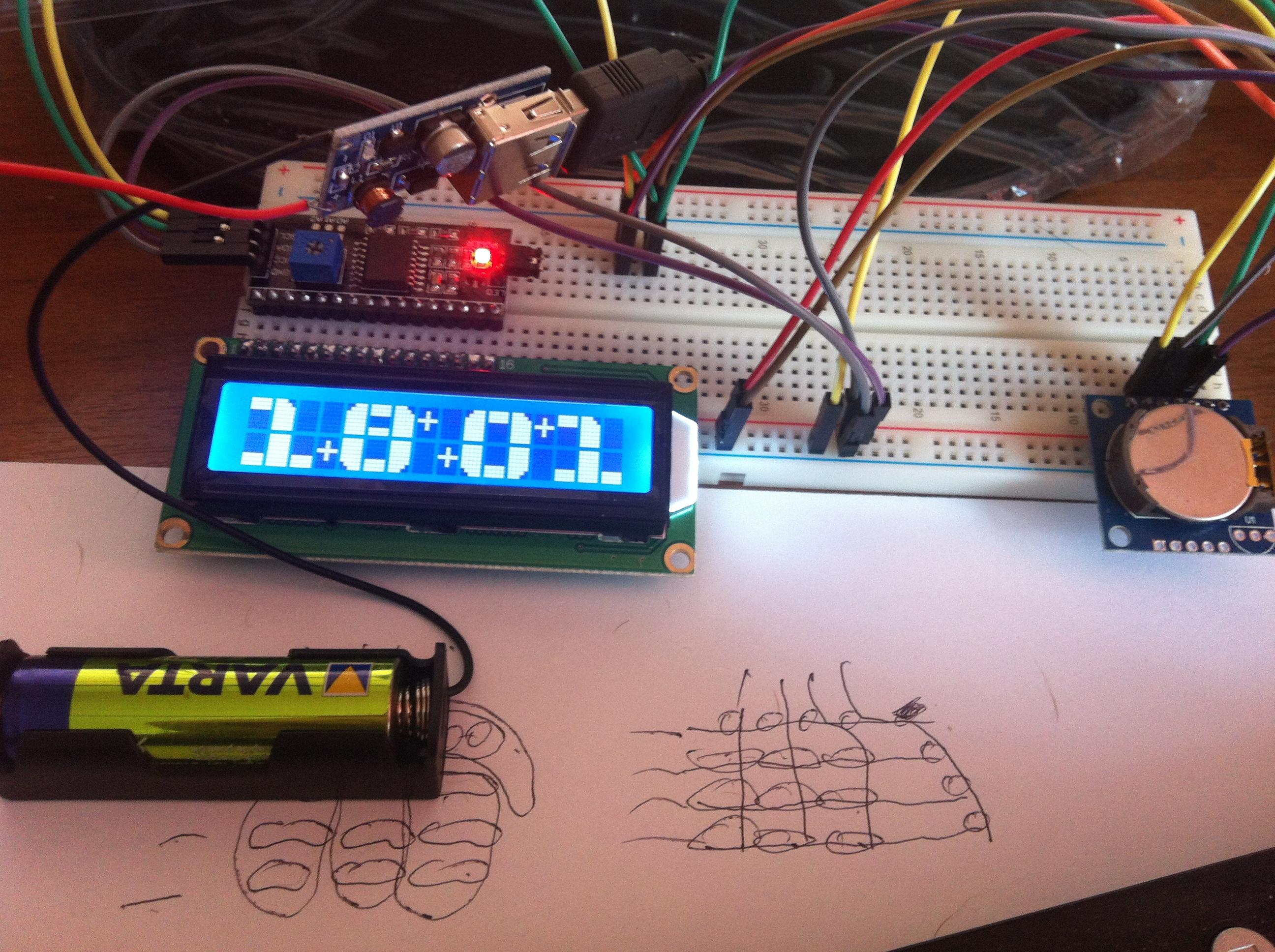 Уменьшаем количество проводов в Arduino — I2C LCD экран и RTC часы по двум проводам
