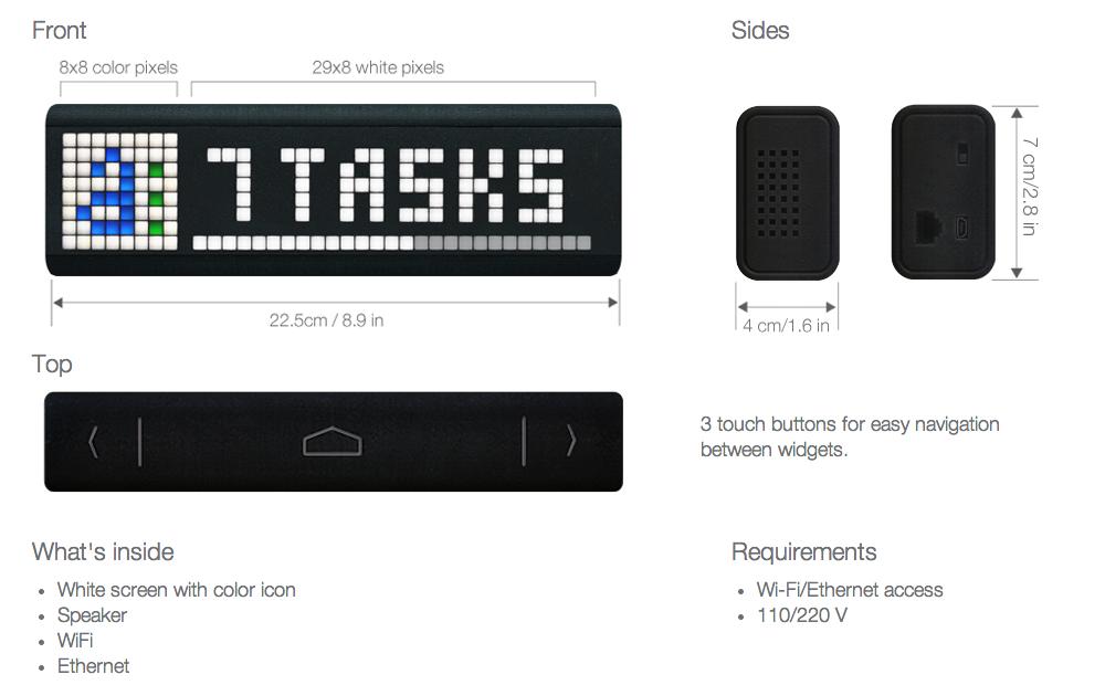 Умный светодиодный дисплей LaMetric вышел на Kickstarter