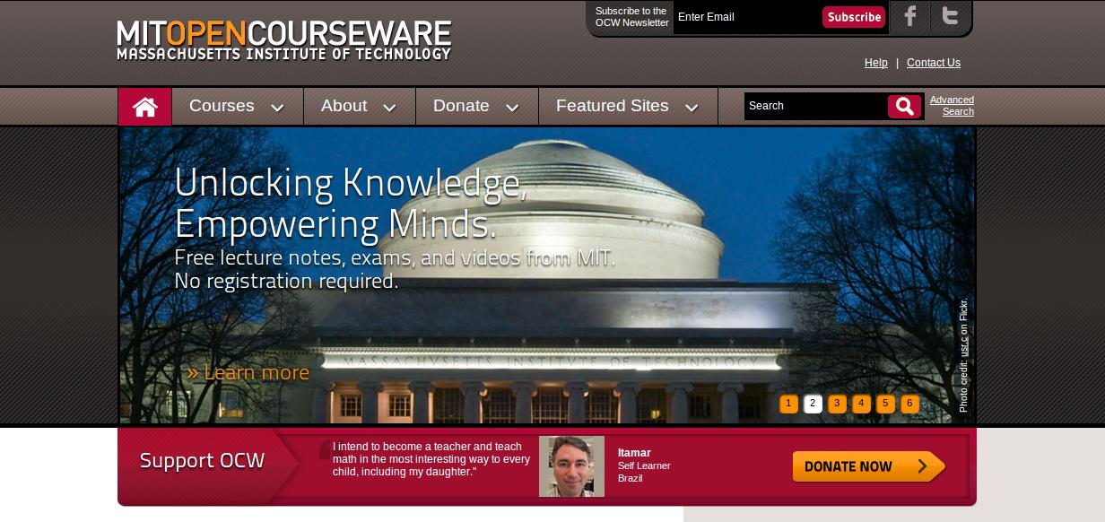 Университет MIT выложил бесплатно лекции в Сеть