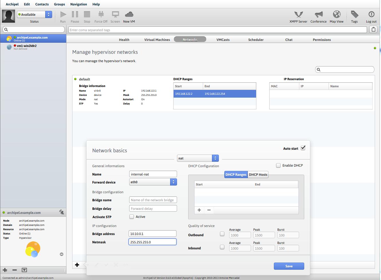 Установка и использование Archipel для управления виртуальными машинами