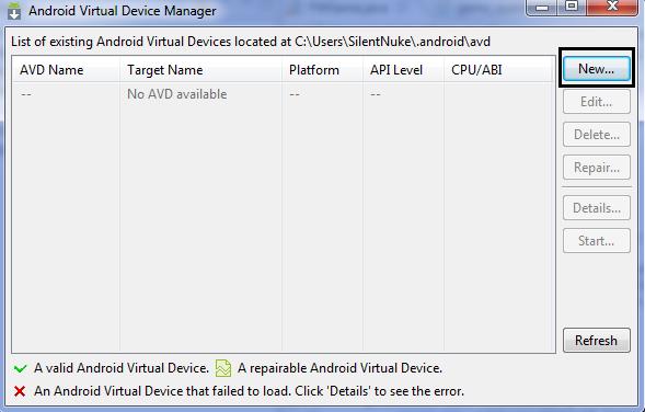 Установка и Настройка Intel® Atom x86 Image for Android SDK