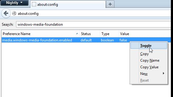 В Firefox 20 в Windows 7 появилась поддержка H.264