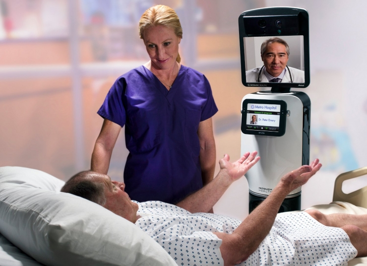 В больницах Северной Америки начали работу медицинские роботы телеприсутствия
