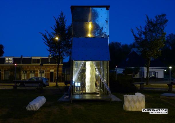 В голландии с помощью гигантского 3D принтера строят дом