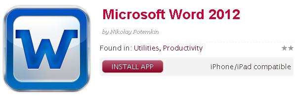 В iTunes приняли фальшивый Microsoft Word 2012